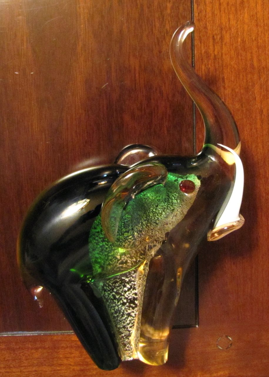Antiqueoyster Murano Italian Aventurine Art Glass