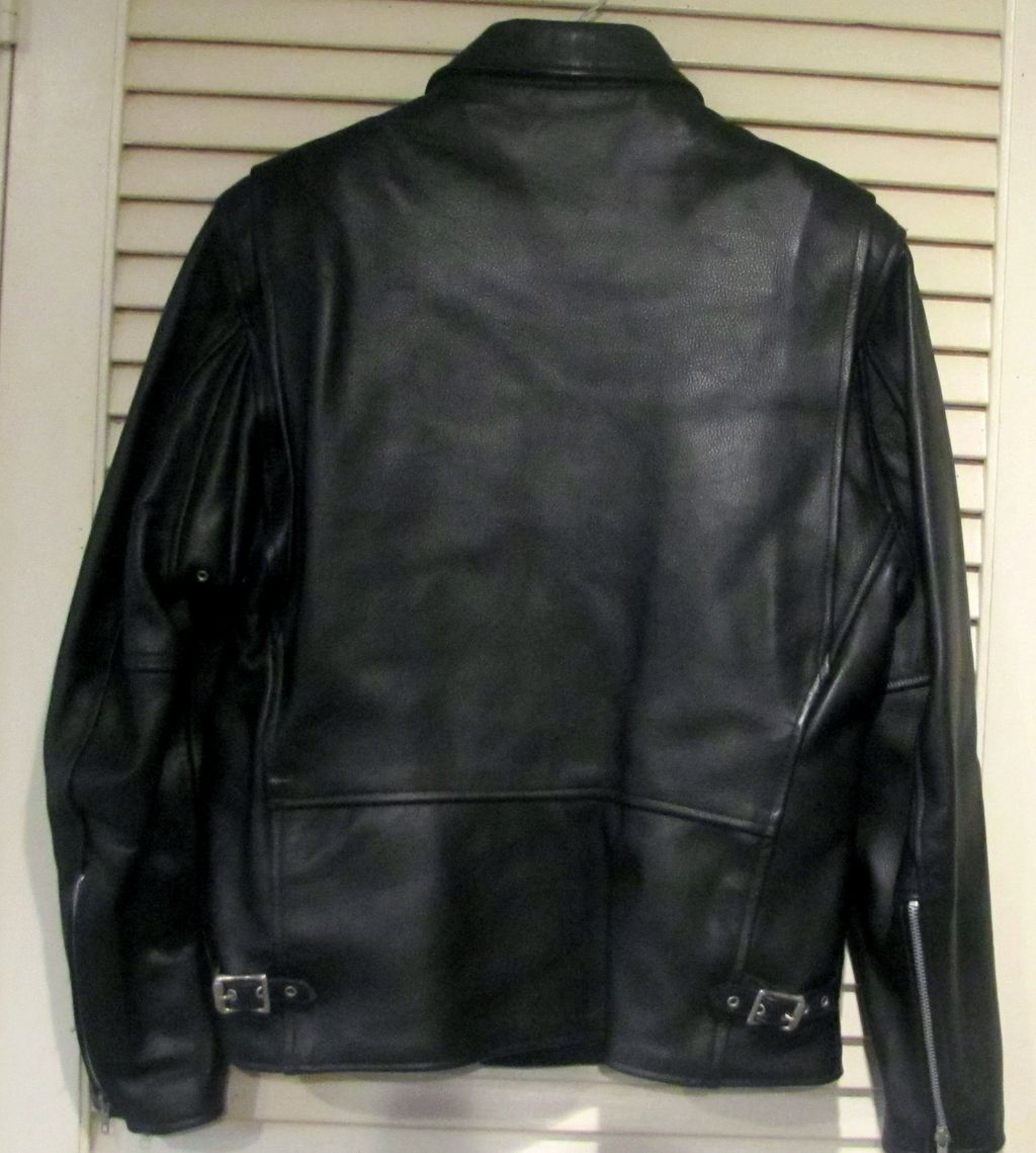MEN S Police Black Leather Motorcycle Biker Jacket Made IN USA | eBay