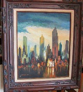 Modern Oil Painting New York Cityscape