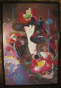 Peter Max Pop Art Framed Print Poster Brown Lady Vintage
