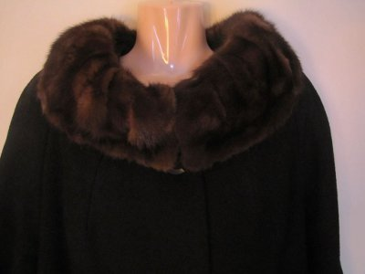 Vintage Coat with Fur Collar Madmen Vintage 1950