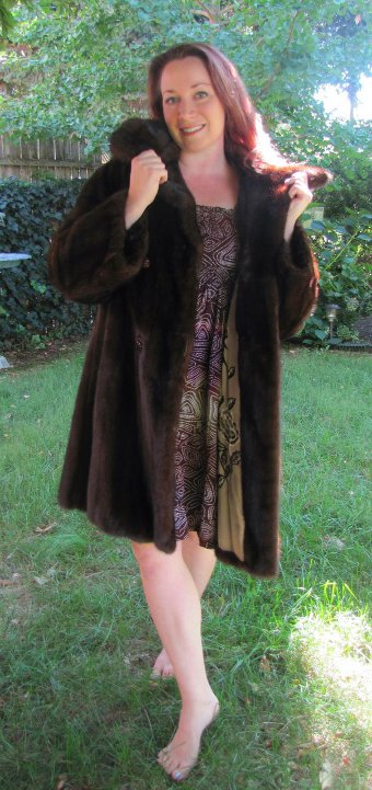 MINK FUR COAT CarlaTivoli Germany - Embroidered Lining - Philadelphia Raizes Dorfman