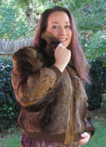 Niki Genuine Natural Rabbit Fur Coat Jacket